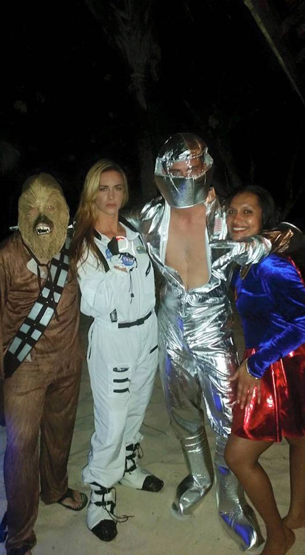 It wasn't all business. Costume parties every night. This was the Up, Up and Away theme.